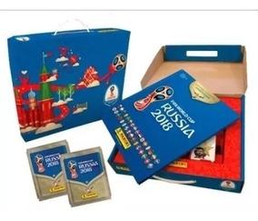 Box Panini Copa 2018 Capa Dura + 100 Envelopes Caixa Panini