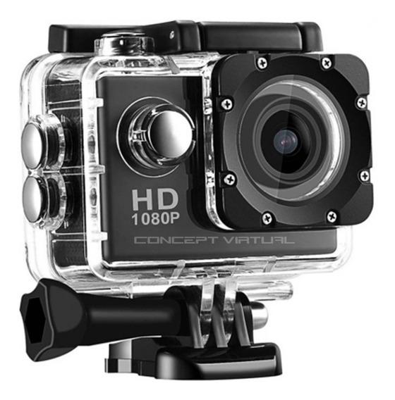 Filmadora Câmera Capacete Esporte Mergulho 1080p Hd Dv