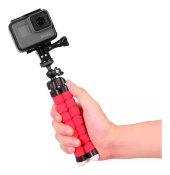 Mini Tripé Flexível Suporte Articulado P/ Câmera Ação Gopro