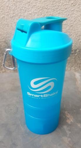 Smartshake Shake 20oz Neon Blue Vaso Batidor Fitness