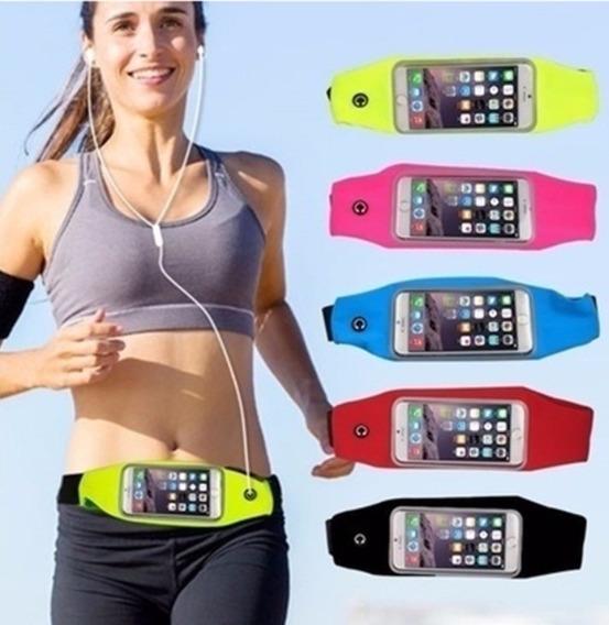 Riñonera Con Visor Tactil Running Expandible Porta Celular