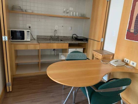 Flat Com 1 Dormitório Para Alugar, 30 M² Por R$ 4.000,00/mês - Moema - São Paulo/sp - Fl3401