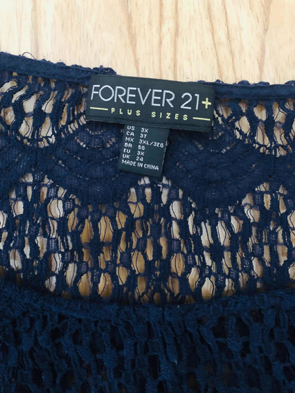 Remera Calada Azul Forever21