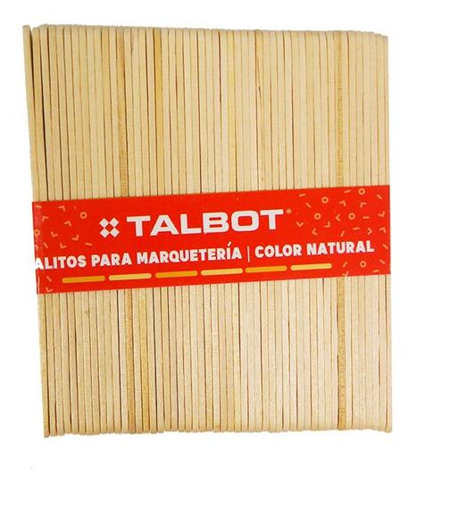 Palitos De Helados Talbot Color Natural X 50