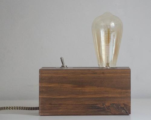 Lámpara Velador De Escritorio Tipo Industrial