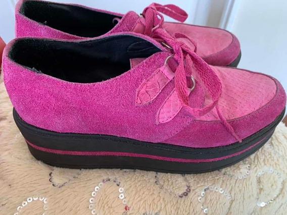 Zapatos De Gamuza Con Plataforma Nro 39