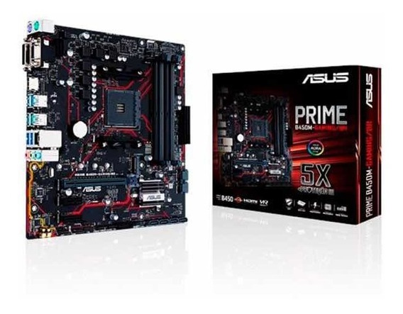 Placa Mae Asus Prime-b450m-gaming/br Ddr4 Socket Am4
