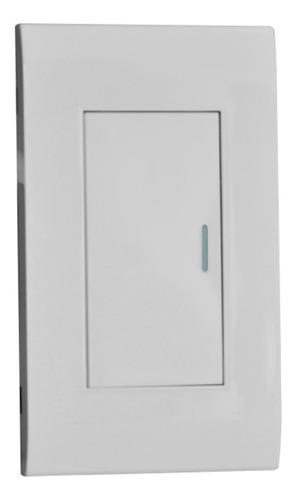 Imagen 1 de 3 de Interruptor Sencillo Blanco Premium White De Lujo