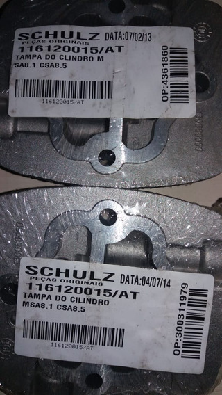 Tampa Cilindro Compressor Schulz Msa 8,1 - Csa 8,5 Original