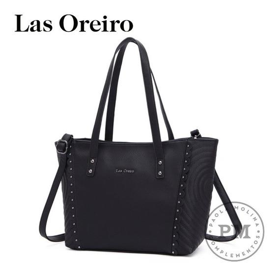 Cartera Mujer 100% P.u Eco Cuero Las Oreiro Nueva Colección