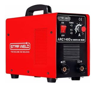 Máquina Solda Inversora Arc 140d Bivolt 110/220v Star Weld