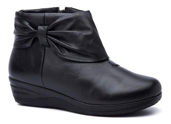 Bota Feminina Em Couro Roma Preto 158 Doctor Shoes
