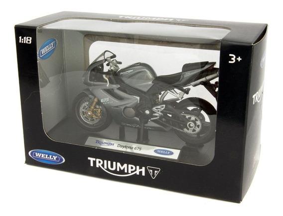 Moto Welly Esc 1/18 Triumph Daytona 675 Colección La Plata