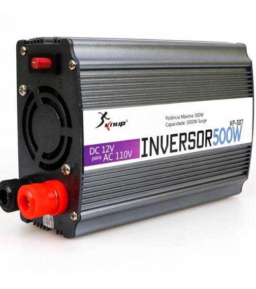 Inversor Conversor Transformador Knup 500w 12v P/ 110v 220v