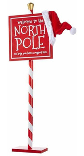 Letrero Polo Norte Navidad