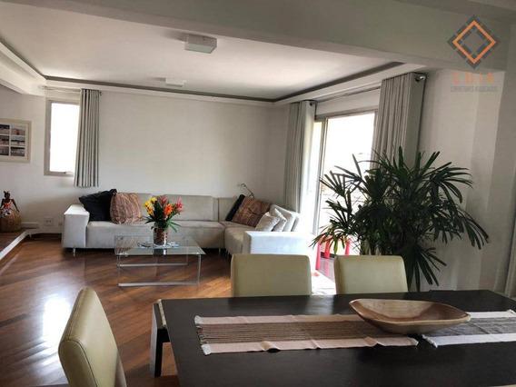 Apartamento Com 3 Dormitórios À Venda, 122 M² Por R$ 1.200.000,00 - Moema - São Paulo/sp - Ap44304
