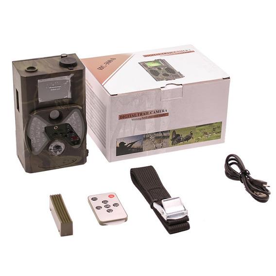 Câmera De Trilha Hc300a + Carregador +8 Pilhas Recarregáveis