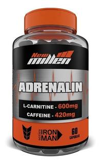 New Millen Adrenalin 60 Cps Cafeína L-carnitina Seca Barriga Termogênico