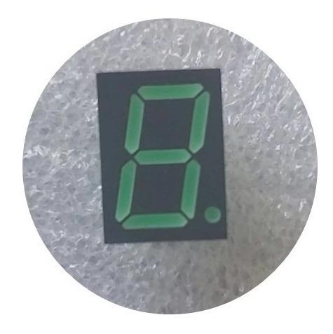 Display Led Avago 7 Segmentos Verde (10 Unidades)
