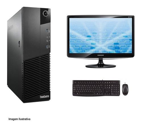 Imagem 1 de 4 de Computador Lenovo M83 I3 4° Geração 4gb 240ssd Monitor 17