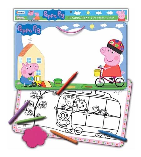 Imagen 1 de 4 de Pizarra Bifaz Para Pintar Y Dibujar Peppa Pig Tapimovil