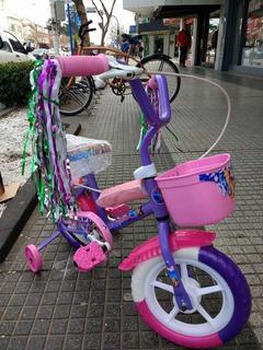 Bicicleta Rodado 12 Aventura Con Rueditas De Apoyo
