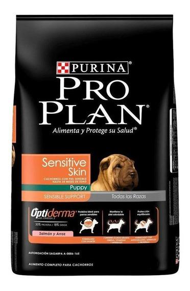 Alimento Pro Plan Sensitive Skin perro cachorro todos los tamaños salmón/arroz 3kg