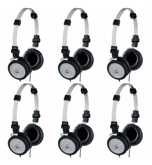 Kit 6 Fones De Ouvido Headphone Akg K414p Djs Som Hi-fi