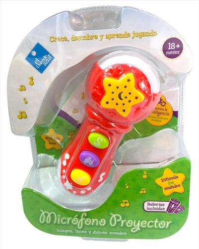 Imagen 1 de 4 de Microfono Toy Bebe Proyector Luz Melodias Cod 7196 Bigshop