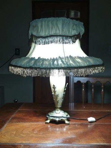 Lámpara De Bronce Y Mármol