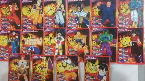 16 Cards Dragon Ball Z Cai Sem Repetições Frete Gratis!!!