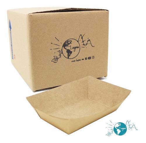 Lagnie Charola Kraft Biodegradable 19x15cm Para Comida 50 Pz