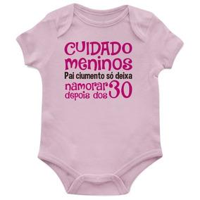 Body Bebê Algodão Cuidado Meninos Pai Ciumento - Divertidos
