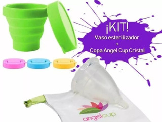 Copa Menstrual Angel Cup+vaso Esterilizador De Regalo!!