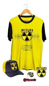 Conjunto Camiseta - Bone - Chaveiro - Adesivo