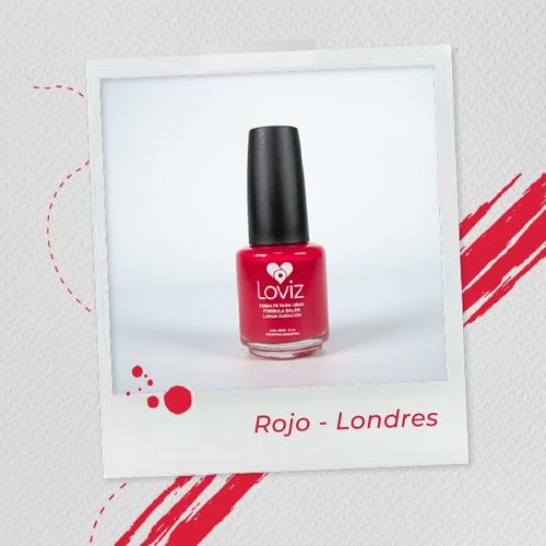 Rojo - Londres   Esmalte De Larga Duración De 15ml