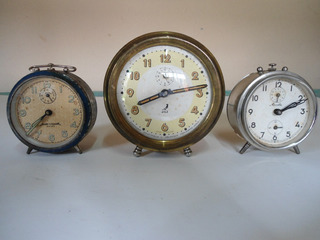 Relojes Despertadores Lote De Tres Funcionando