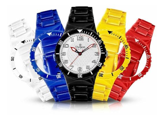 Relógio Troca Pulseira + 5 Pulseiras Coloridas + Brinde!!