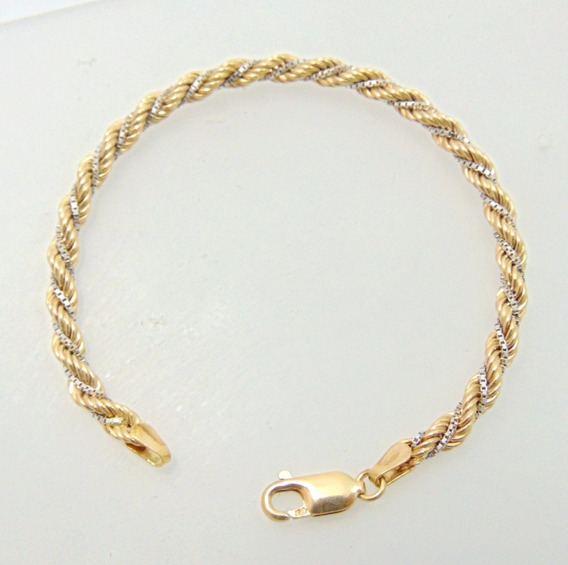 Pulseira Corda Em Ouro 18k - Happygold