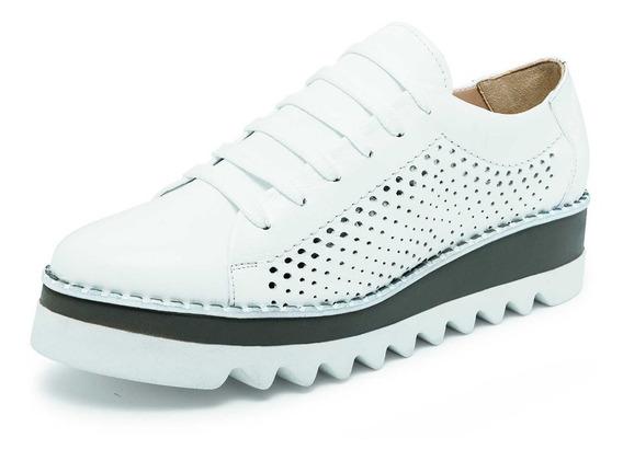 Zapato Casual Plataforma Para Dama Color Blanco O Negro
