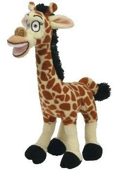 Madagascar Pelúcia Girafa Melman 22cms Da Ty!