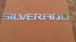 Emblema Letras De La Palabra Silverado De Metal Pulido