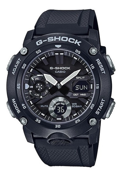 Relógio Casio Masculino G-shock Anadigi Preto Ga-2000s-1adr