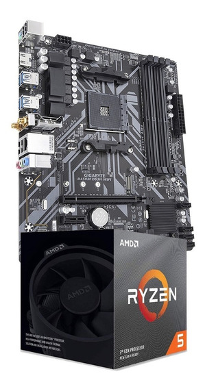 Combo Amd Ryzen 5 3600xt + Mother Gigabyte B450m Ds3h Wifi