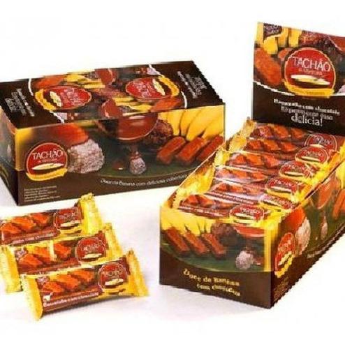 Imagem 1 de 5 de Bananinha Com Chocolate Tachao De Ubatuba 24x20g