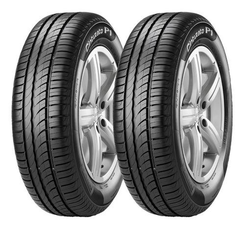 Imagen 1 de 3 de Kit X2 Neumáticos Pirelli 195/65 R15 P1 Cinturato 91h