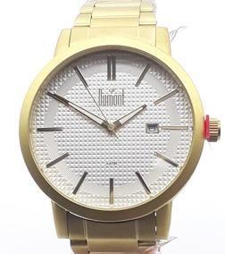 Relógio Unissex Dumont Escovado Du2115aah/3b Dourado