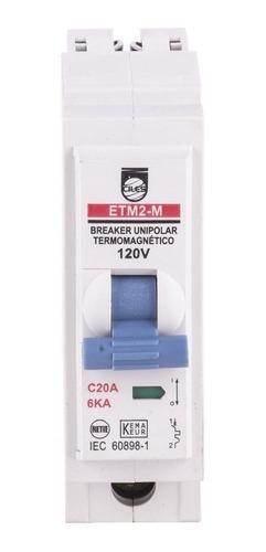 Breaker Enchufable 1x20 Taco De 20 Interruptor Para Caja
