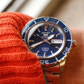 Relógio Seiko 5 Diver Azul Automático Vintage Snzh53k1 Novo!