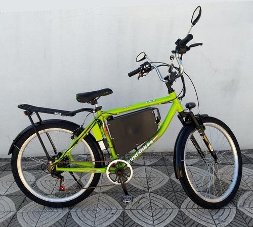 Imagem 1 de 14 de Bicicleta Elétrica Modelo Work 350 W 36 V 15ah Wind Bikes